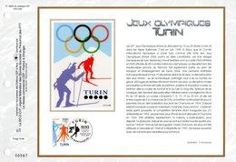 """"""" J.O. DE TURIN DE 2006 """" Sur Feuillet CEF N°té En SOIE De 2006 N° 1809s N°YT 3876 Parfait état FDC - Winter 2006: Torino"""