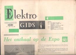 """RECLAMEFOLDER  ELEKTRO GIDS -  ENB - NR 3 - DD. MEI - JUNI 1958. - """"HET ONTHAAL OP DE EXPO"""" - EXPO 58    (OD 424) - Reclame"""