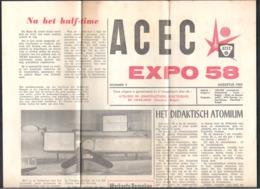 RECLAMEFOLDER  ACEC  EXPO 58  - NR 4 DD. AUGUSTUS 1958   (OD 423) - Reclame