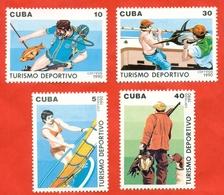 Cuba 1990. Sports Tourism. Fishing. New. Complete Series. - Kunst- Und Turmspringen