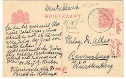 11587 - Pour L'Allemagne - Postal Stationery