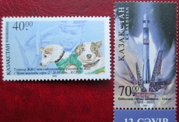 Kazakhstan  2001 Space. Cosmonautics Day  Dogs  2000  2 V.  MNH - Asie
