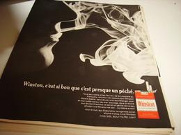 ANCIENNE PUBLICITE CIGARETTE WINSTON 1968 - Tabac (objets Liés)