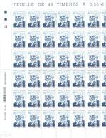 FRANCE N°4435 Nxx ABBE PIERRE Feuille Entière De 48 Ex. Tb .faciale : 26.88 € - Feuilles Complètes