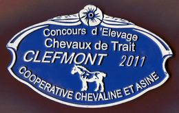 """CLEFMONT  (52) : """" CONCOURS D'ELEVAGE - CHEVAUX DE TRAIT - 2011 """" - Plaques Publicitaires"""