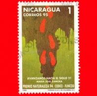NICARAGUA  - Usato - 1995 - Premio Naturaleza 94 - Codice Funcod - Maria Jose Zamora - 1 - Nicaragua