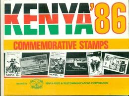 KENYA  Année 1986 Complète N° 356 / 381 N Xx  Dans Son Dépliant TB Cote : 67 €. - Kenya (1963-...)