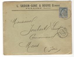 11599 - TULLINS - Marcophilie (Lettres)