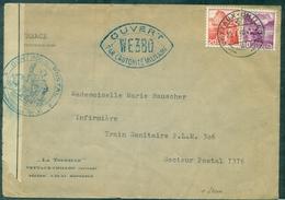 SUISSE Guerre 39:45 Let 22.01.1940 Veytaux-chillon+ Censure WE 380 Pour Train Sanitaireplm 306 - Guerre Mondiale (Seconde)
