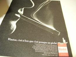 ANCIENNE PUBLICITE CIGARETTE WINSTON 1967 - Tabac (objets Liés)