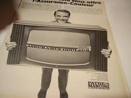 ANCIENNE PUBLICITE ASSURANCE COULEUR PATHE MARCONI 1967 - Affiches & Posters