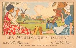 """PARIS  - Carte Publicitaire De L'Opérette """" Les Moulins Qui Chantent """" -  Illustrateur - Autres"""