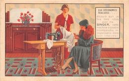 """PARIS - Carte Publicitaire Des Machines à Coudre """" SINGER """" 27 Avenue De L'Opéra   -  Illustrateur - Arrondissement: 01"""