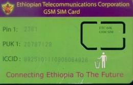 Ethiopia GSM SIM Card,  (1pcs,MINT) - Ethiopia