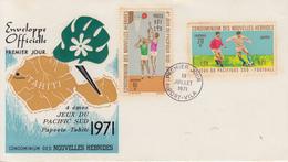 Enveloppe  FDC  1er Jour   NOUVELLES  HEBRIDES   IVéme  Jeux  Du  Pacifique  Sud   1971 - FDC