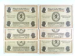 Notgeld Der Stadt Weimar, 6 Scheine à 25 Pfennige, Verschiedene Motive, 1921 - Billets