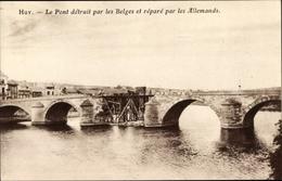 Cp Huy Wallonien Lüttich, Le Pont Détruit Par Les Belges Et Réparé Par Les Allemands - Autres