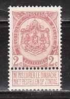 82**  Armoiries - Bonne Valeur - MNH** - COB 65 - Vendu à 13.50% Du COB!!!! - 1893-1907 Armoiries