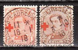 150/51  Croix-Rouge - Les 2 Premières Valeurs - Oblit. Centrale STE ADRESSE - LOOK!!!! - 1918 Croix-Rouge