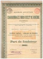 Ancienne Action - Société Anonyme Des Charbonnages Nord-Ouest De Bohême - Falkenau - Titre De 1899 - N° 06447 - Mines