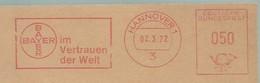 EMA FREISTEMPEL METER AFFRANCATURA MECCANICA - Bayer Germany Hannover 1972[] - Médecine