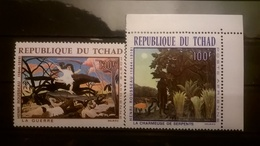 FRANCOBOLLI STAMPS CIAD TCHAD 1968 MNH** NUOVI SERIE COMPLETA AIRMAIL PAINTINGS HENRY ROUSSEAU - Ciad (1960-...)