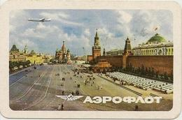 Soviet Calendar Calendar - Russia - 1965 - Aeroflot - Aircraft - Moscow - Red Square - Rarity - Petit Format : 1961-70