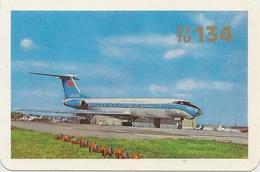 Soviet Calendar Calendar - Russia - 1976 - Aeroflot - Aircraft - Tu-134 - Airfield- Rarity - Calendars