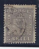 NORUEGA 1863 - Yvert #7 - VFU - Noruega