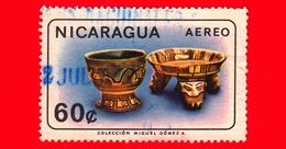 NICARAGUA  - Usato - 1965 - Artigianato - Vasi - Gomez - Cups And Tripod Bowl, Clay - 60 P. Aerea - Nicaragua