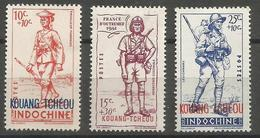 Kouang-Tcheou - 1941 National Defense  MH *     Sc B6-8 - Unused Stamps