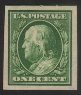 1911 US, 1c Stamp, MH, Benjamin Franklin, Sc 383, VF / XF - Unused Stamps