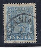 NORUEGA 1863 - Yvert #8 - VFU - Noruega