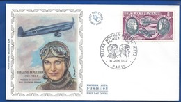 Enveloppe 1° Jour   Aviatrice  Hélène Boucher    Oblitération: Paris 10 Juin 1972 - Marcophilie (Lettres)