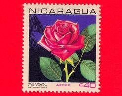 Nuovo - NICARAGUA  - 1967 - Fiori - National Flowers - Rosa Hybr. - 40  - Posta Aerea - Nicaragua