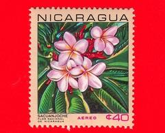Nuovo - NICARAGUA  - 1967 - Fiori - National Flowers - Plumeria Alba - 40  - Posta Aerea - Nicaragua
