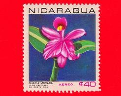 Nuovo - NICARAGUA  - 1967 - Fiori - Orchidea - National Flowers - Cattleya Skinneri - 40  - Posta Aerea - Nicaragua