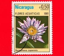 NICARAGUA  - Nuovo - 1981 - Fiori Acquatici - Flowers - Fleurs - Nymphaea Capensis - 0.50 - Nicaragua