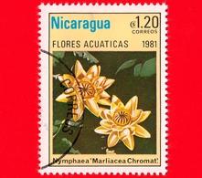 NICARAGUA  - Nuovo - 1981 - Fiori Acquatici - Flowers - Fleurs - Marliacea Chronavat - 1.20 - Nicaragua