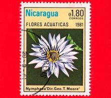 NICARAGUA  - Nuovo - 1981 - Fiori Acquatici - Flowers - Fleurs - Dir. Geo. T. Moore - 1.80 - Nicaragua