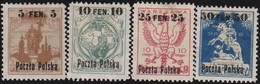 Polen   .    Yvert    1A/4     .   *   .   Ungebraucht Mit Gummi Und Falz  .   /   .   Mint Hinged - 1919-1939 Republic