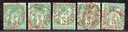 Sage  N° 75 X10  Avec Oblitération Cachet à Date/Date Rouge  TB - 1876-1878 Sage (Type I)