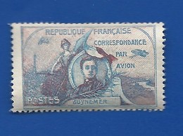 Vignette   Correspondance Par Avion GUYNEMER - Commemorative Labels