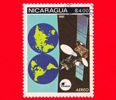 NICARAGUA  - Nuovo - 1981 - Esplorazione Dello Spazio - Space Communications - Satellite - 4.00  Posta Aerea - Nicaragua