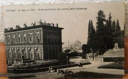 FIRENZE-ESTERNO DI PALAZZO PITTI CON PASSEGGIATA CARTOLINA ANIMATA E VIAGGIATA 1921 - Firenze