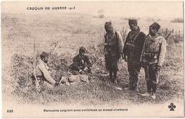 Marocains Soignant Avec Sollicitude Un Blessé Allemand Guerre 14-18 Ww1 - Oorlog 1914-18
