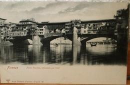 CARTOLINA POSTALE  UTILIZZATA -CON IMMAGINE DI FIRENZE IL  PONTE VECCHIO AI PRIMI DEL 1900 - Firenze
