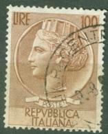 Italie  Michel  955D  Ou Sassone  785 III Ob  TB   Dent 13 X 13.75 - 1946-60: Used