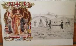 CARTOLINA POSTALE NON VIAGGIATA-CONVENZIONE DI GINEVRA DEL 1864 PER I MILITARI FERITI IN GUERRA - Croce Rossa