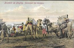 TURQUIE - SOUVENIR DE SMYRNE - CAMPEMENT DES CHAMEAUX  CPA 1910 - Turquie